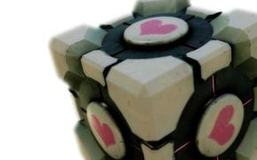 Картинка сердце, кубик, portal