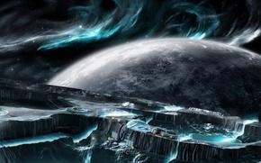 Обои небо, вода, планета, космос