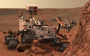 Картинка лазер, марсоход, Марс, MSL, Curiosity