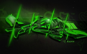 Обои Graffiti, Green, Razer