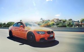 Картинка BMW, Оранжевая, Скорость, БМВ, E92, Fire Orange