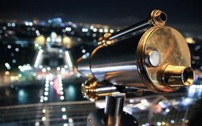 Картинка эйфелева башня, париж, оптика, подзорная труба, смотровая