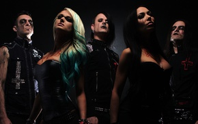 Обои butcher babies, heavy metal, death metal