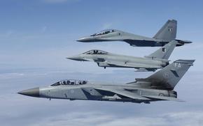 Картинка полет, истребители, Eurofighter Typhoon, Tornado, Su-30MKI, «Торнадо»