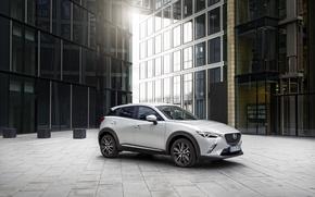 Картинка белый, Mazda, мазда, паркетник, 2015, CX-3