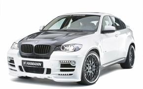 Обои белый, BMW, Hamann