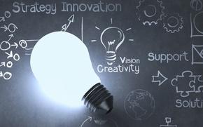 Картинка design, ideas, light bulb, creativity