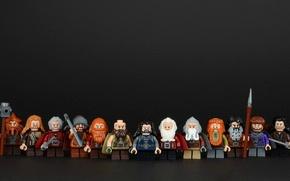 Картинка фон, Лего, гномы, фигурки, Lego, Хоббит, The Hobbit