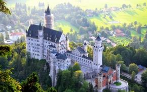 Картинка замок, Germany, Bavaria, Deutschland, Bayern, Füssen