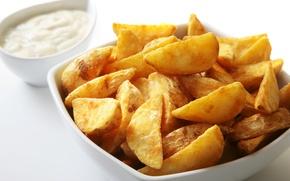 Картинка жареное, картофель, соленое