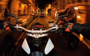 Картинка вид, 2008, лица, мотоцикл, moto, KTM, Super, первого, байков., внедорожных, производитель, шустрый, малый, австрийский, легок …