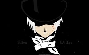 Картинка черный, шляпа, аниме