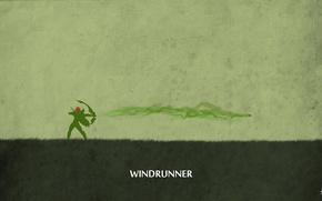Картинка green, minimalism, valve, archer, dota 2, windrunner, sheron1030