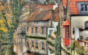 Обои windows, houses, nature, water
