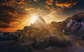 Картинка горы, восход, рассвет, Бразилия, Brasil, Paraíba, Параиба
