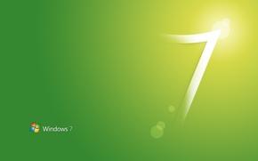Обои стиль, green, style, windows seven 7, computers