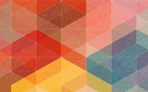Картинка лучи, линии, сетка, геометрия