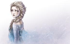 Картинка холод, зима, девушка, грустит