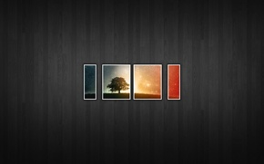 Картинка дерево, текстура, кусочки