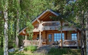 Картинка природа, уют, дом, обои, дома, интерьер, деревянный