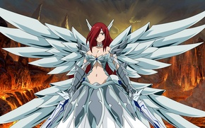Картинка boobs, wings, Erza Scarlet
