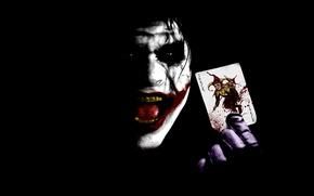 Обои joker, карта, бэтмен, Джокер, batman
