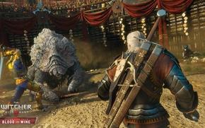Картинка чудовище, мечи, ведьмак, Геральт, арбалет, DLC, The Witcher 3: Wild Hunt, Ведьмак 3: Дикая Охота, …