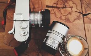 Картинка стол, камера, объектив, журнальный
