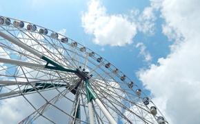 Картинка облака, колесо обозрения, казань