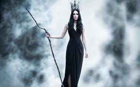 Картинка девушка, посох, по мотивам сказки, Tales of Narnia