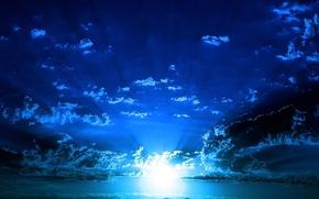 Обои море, небо, свет