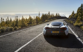 Картинка дорога, McLaren, автомобиль, вид сзади, beauty, макларен, 570GT