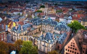 Обои улицы, дома, вид сверху, Strasbourg, Франция