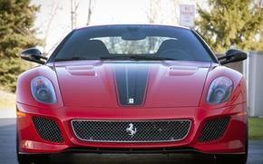 Картинка red, logo, ferrari, 599 GTO