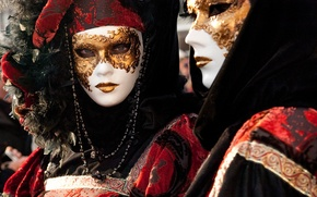 Картинка city, man, Venice, mask, carnival, holuday