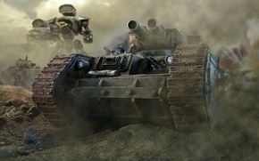 Обои гвардия, имперская, имперский, титан, Леман Русс, лобовая, пулеметы, стволы, warhammer 40k, дым, броня, танк
