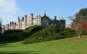 Картинка осень, замок, Англия, autumn, England, castle, Sheffield park, Парк Шеффилд