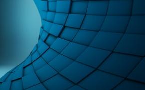 Картинка синий, абстракция, квадраты, Alextc1