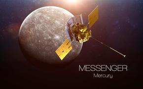Обои satellite, mercury, messenger