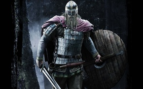 Картинка меч, нож, шлем, кинжал, борода, топор, щит, клинок, викинг, рог, Север, панцирь, Молот Тора, обереги
