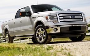 Картинка Ford, Форд, джип, пикап, передок, F-150, Double Cab, Lariat, Ф-150