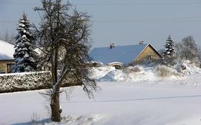 Картинка зима, снег, landscape, winter, snow