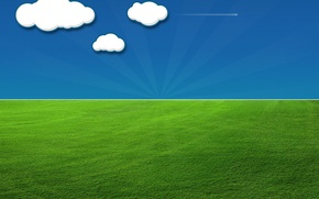Картинка небо, облака, самолёт