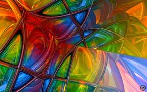 Картинка свет, линии, цвет, текстура, объем