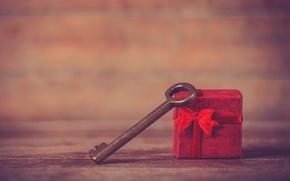 Картинка фон, праздник, подарок, widescreen, обои, настроения, ключ, wallpaper, широкоформатные, background, present, gift, полноэкранные, HD wallpapers, …