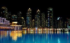 Картинка ночь, Дубай, Dubai, night, ОАЭ, United Arab Emirates