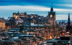 Картинка Scotland, Edinburgh, Castle, Sky View