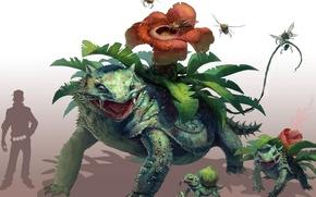 Картинка fantasy art, Ivysaur, Venusaur, бульбазавр арт, Bulbasaur