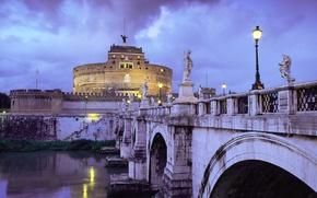 Обои мост, Италия, замок