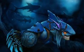 Картинка акулы, Dota 2, slark